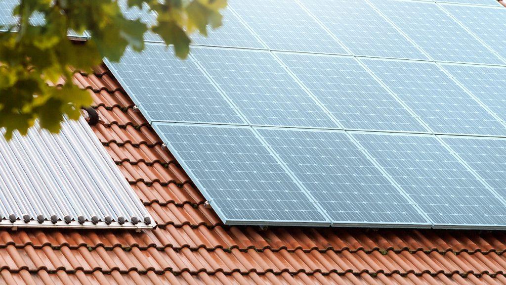 Heizungsanlage in Form von Solarheizung.